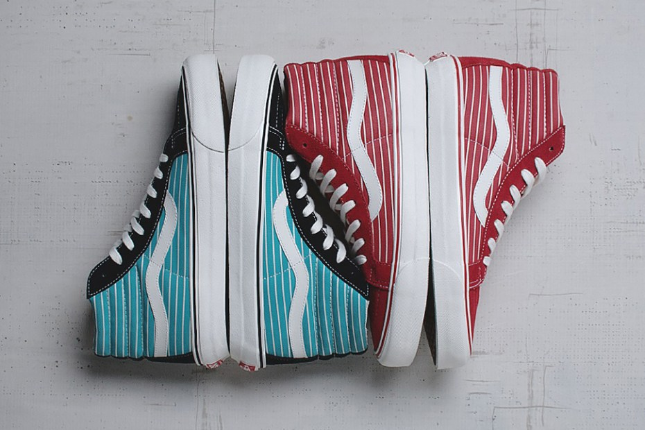 "Image of Vans Vault 2014 Spring Sk8-Hi LX ""Stripes"" Pack"