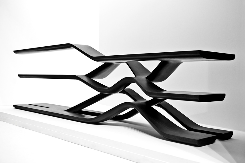Image of Zaha Hadid Granite & Marble Furniture Collection for CITCO