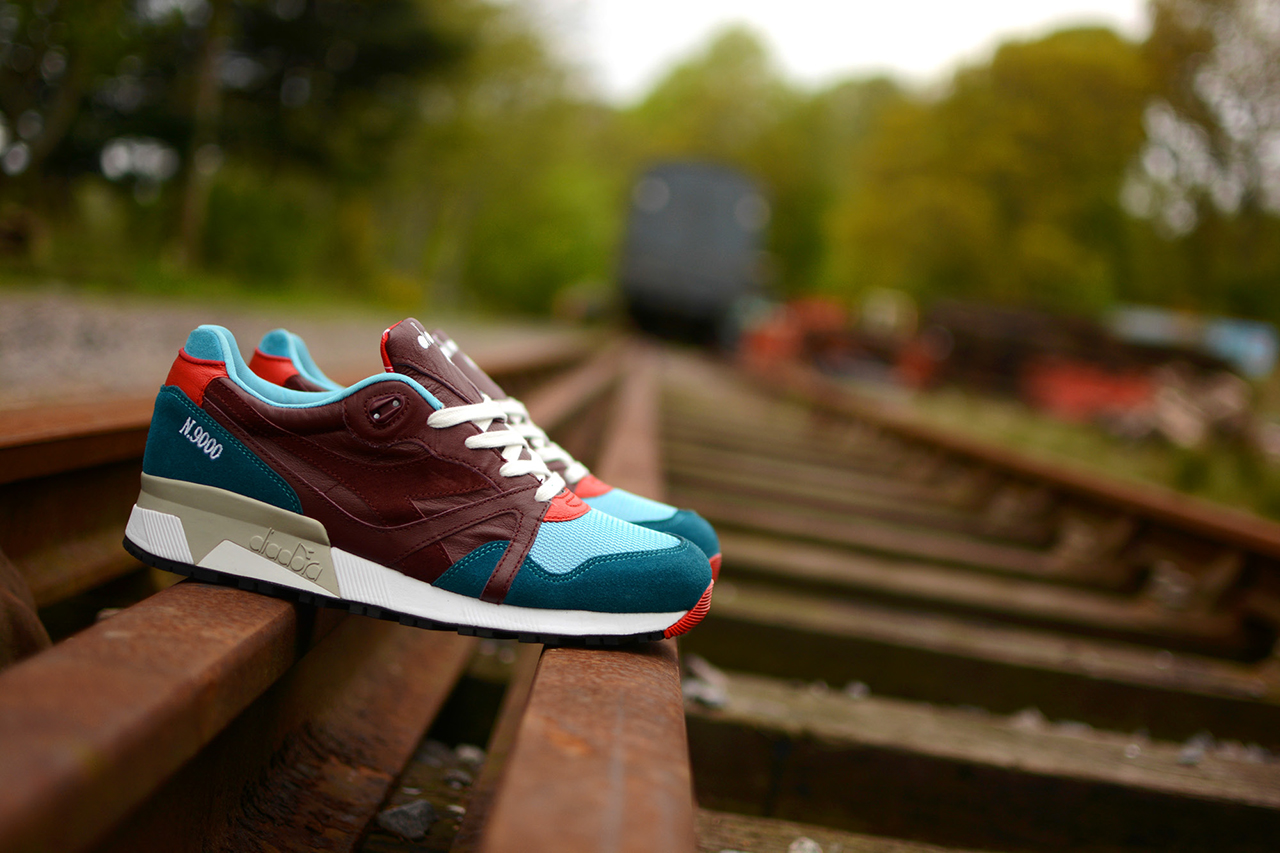 "Image of A Closer Look at the hanon x Diadora N.9000 ""Saturday Special"""