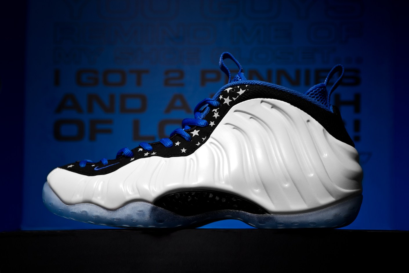 "Image of A Closer Look at the Nike Air Foamposite One & Lil Penny Posite ""Shooting Stars"" Pack"