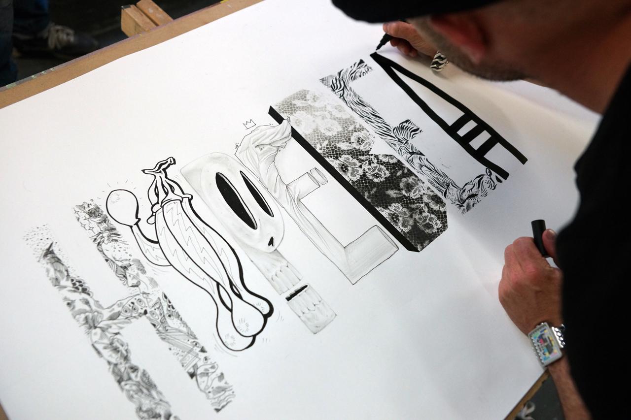 Image of A Five-Person Pen & Paper: Converse Clash Wall