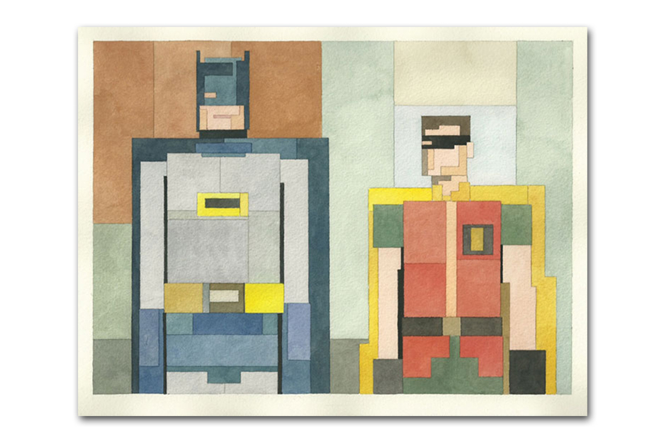 Image of Pixelated Watercolor Paintings by Adam Lister