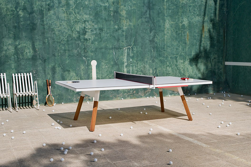 Image of A Desk That Converts From Work Space to Ping Pong Table