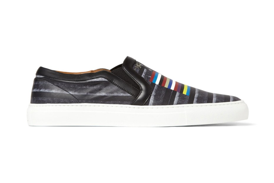Image of Givenchy Flag Print Leather Skate Shoe