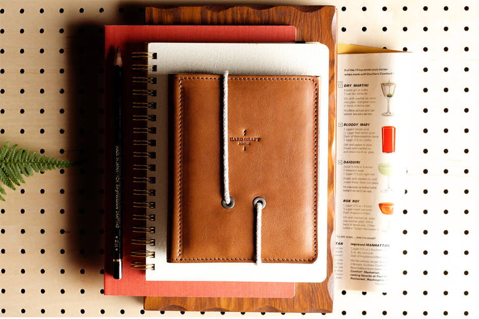 Image of hard graft Leather Passport Wallet
