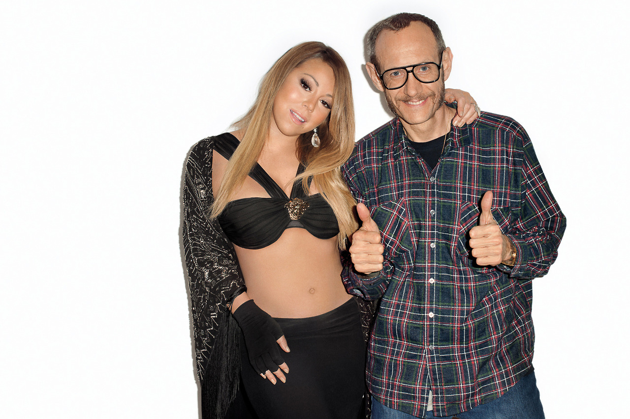 Image of Mariah Carey Visits Terry Richardson's Studio