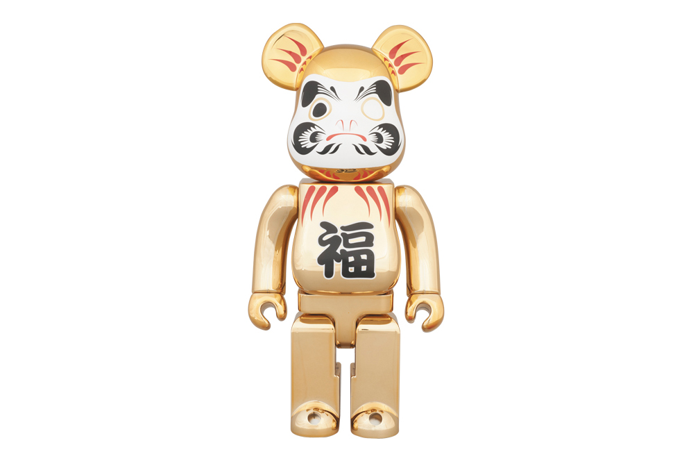 Image of Medicom Toy Tokyo Skytree Town Solamachi Store 2nd Anniversary 400% Gold-Plated Daruma Bearbrick