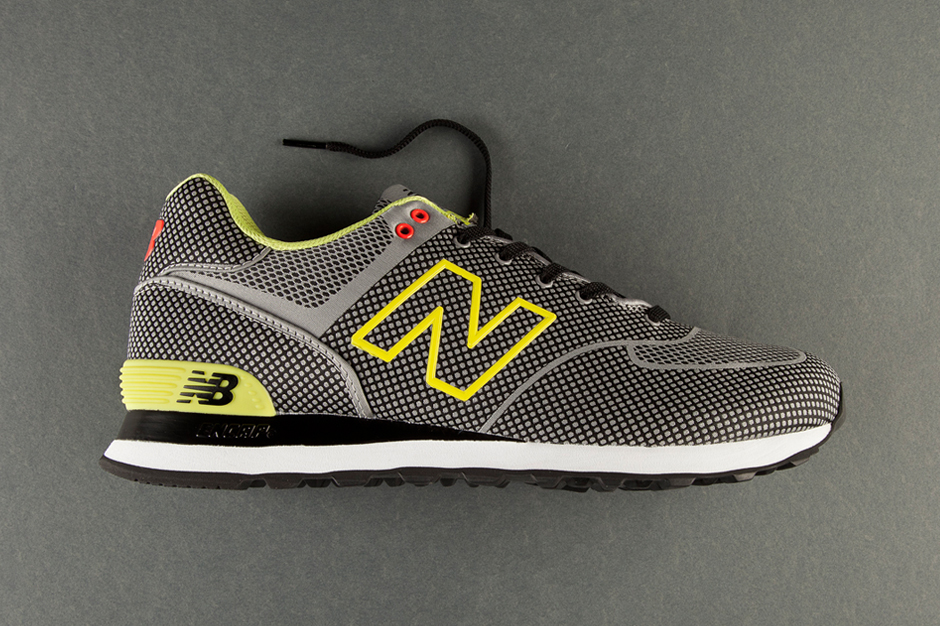 Image of New Balance 574 Sonic Woven Grey/Lime