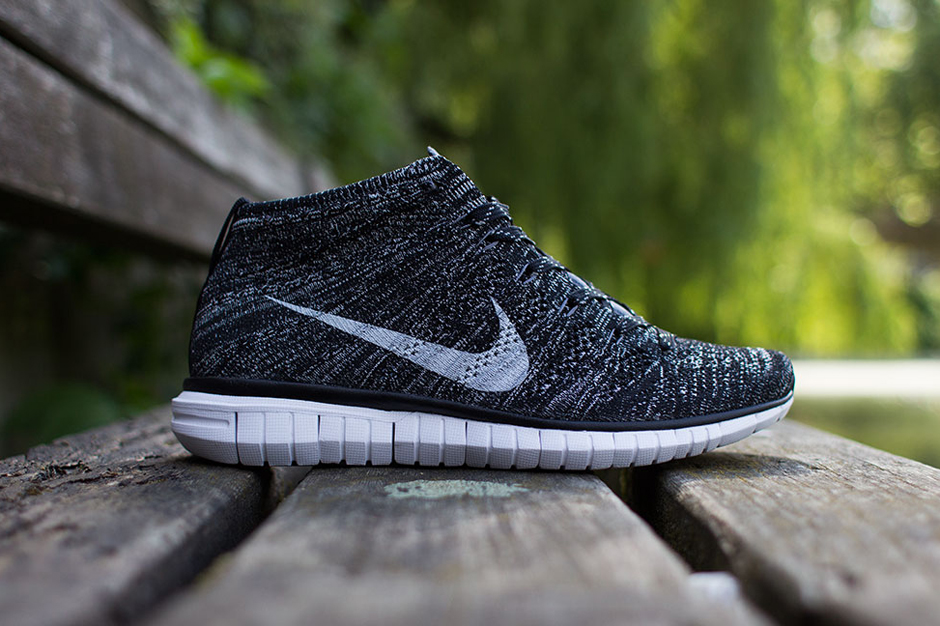 Image of Nike Free Flyknit Chukka Black/Grey-White