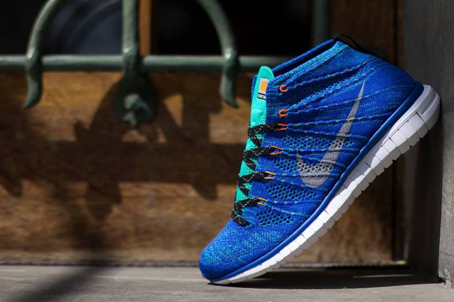 Image of Nike Free Flyknit Chukka Game Royal/Wolf Grey