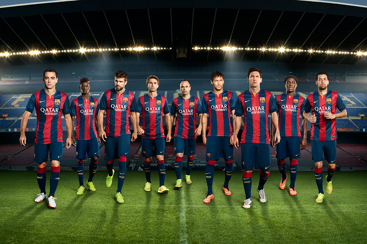 Image of Nike Unveils FC Barcelona's New 2014/15 Kit