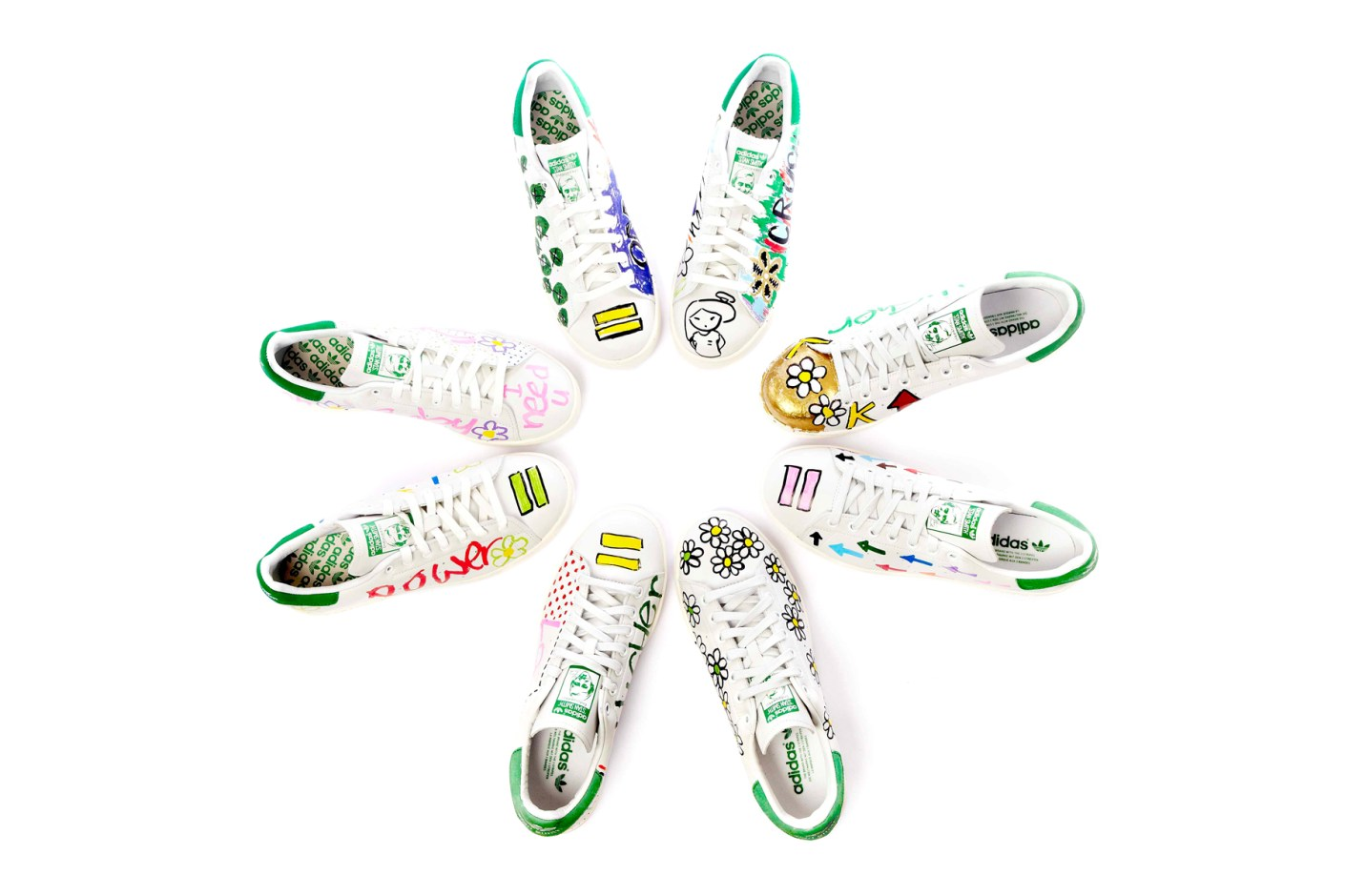 Image of Pharrell's Limited Edition, Hand-Customized Stan Smiths Exclusively at colette