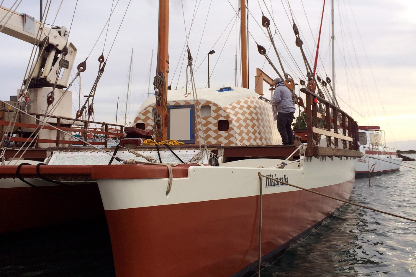 "Image of POW! WOW! Hawaii x Polynesian Voyaging Society ""Hokule'a's Worldwide Voyage"" Project"