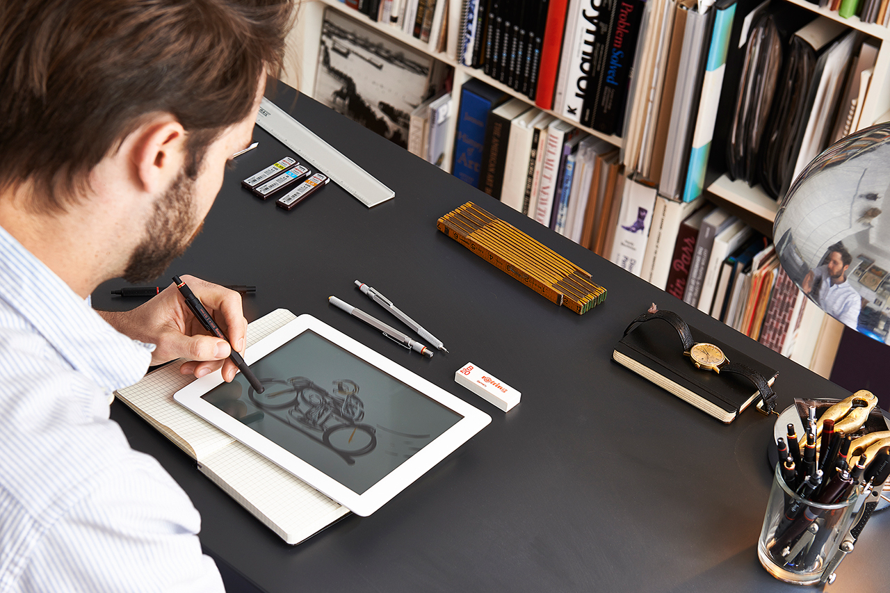 Image of The rOtring 800+ Merges Digital and Analog with Pencil & Stylus Combo