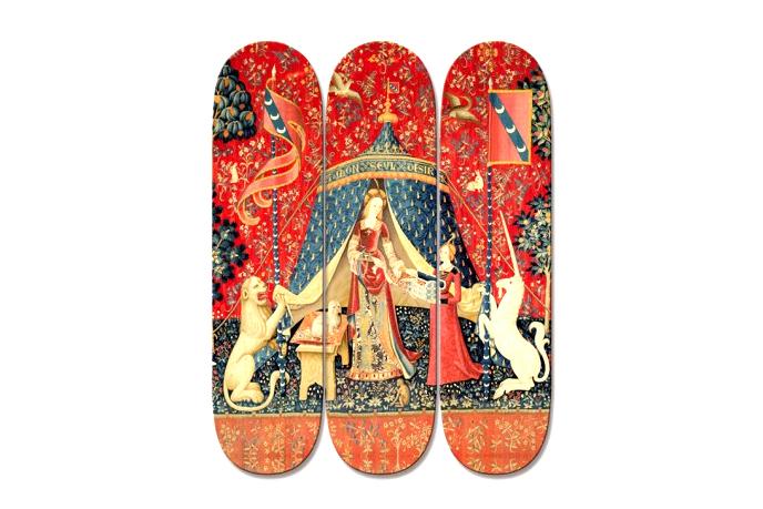 "Image of ""La Dame à la licorne"" Skateboard Decks by boom-art"