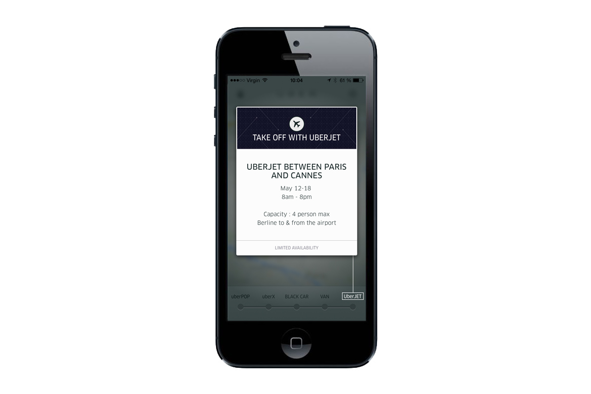 Image of Uber Launches Private Jet Service for the 2014 Cannes Film Festival