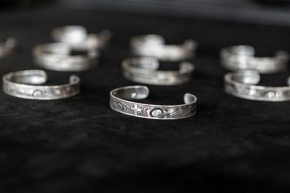 Image of wings+horns x Lattimer Gallery x Justin Rivard Sterling Silver Cuff Bracelet