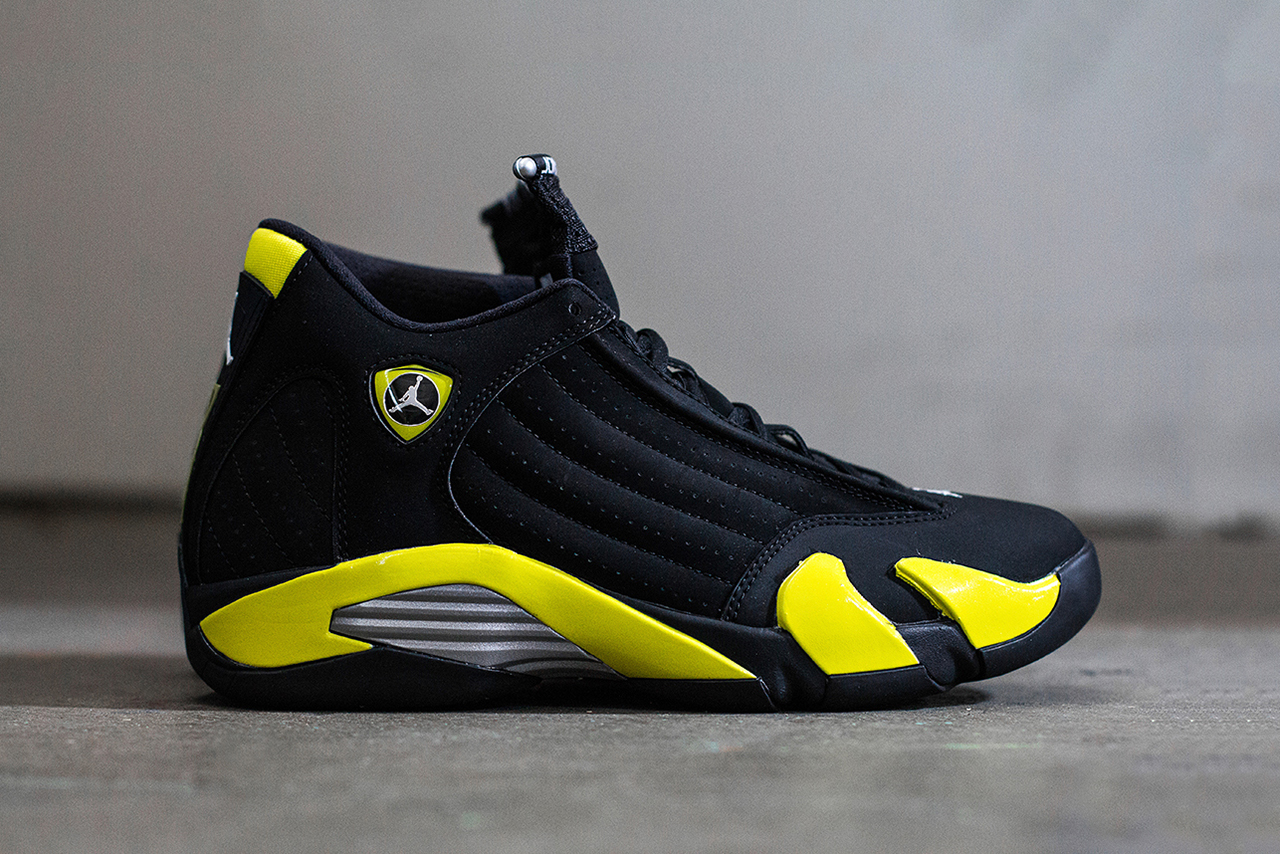 "Image of A Closer Look at the Air Jordan 14 Retro ""Thunder"""