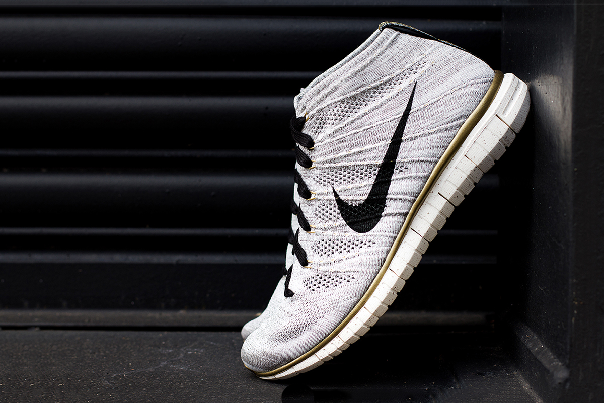 "Image of A Closer Look at the Nike Free Flyknit Chukka ""Gold Hypervenom"""