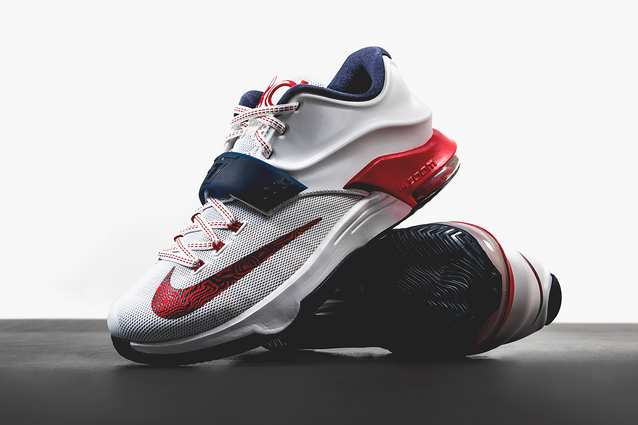 "Image of A First Look at the Nike KD7 ""July 4th"""