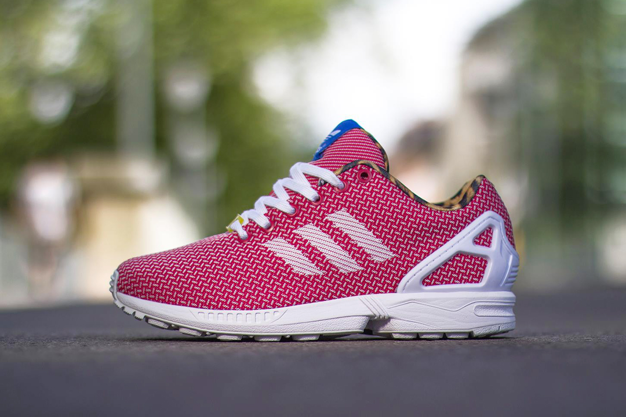 Image of adidas Originals ZX FLUX Weave Red/Leopard
