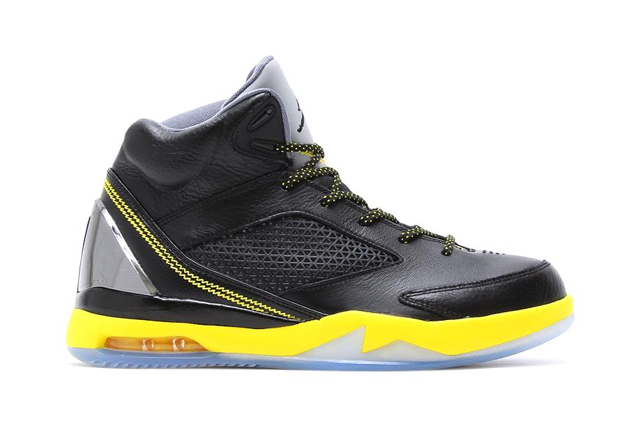 Image of Air Jordan Flight Remix Black/Yellow/Cool Grey