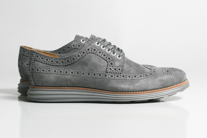 "Image of Cole Haan LunarGrand Long Wingtip ""Grey Suede"""