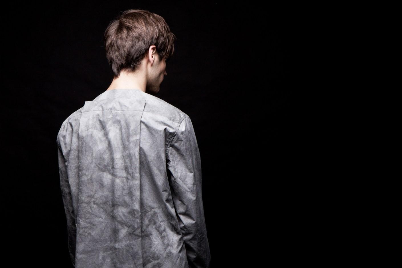 Image of Damir Doma Grey SALIX Collarless Shirt