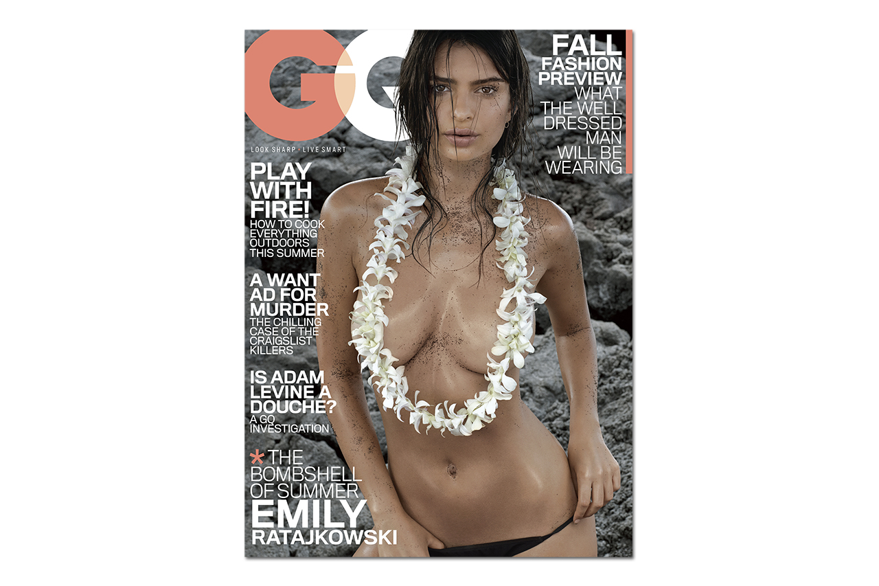Image of Emily Ratajkowski Covers the July 2014 Issue of GQ