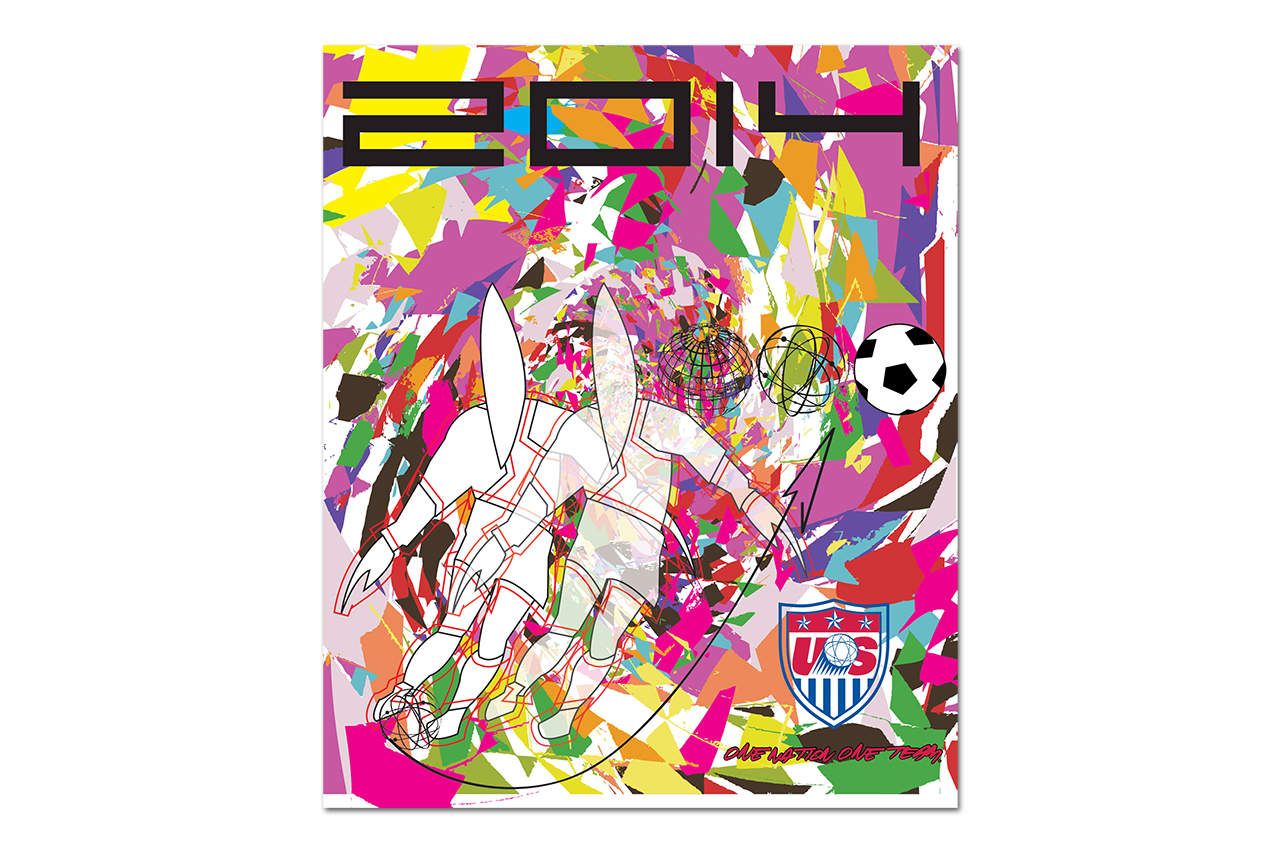 Image of Futura Designs Custom Poster for U.S. Men's National Soccer Team