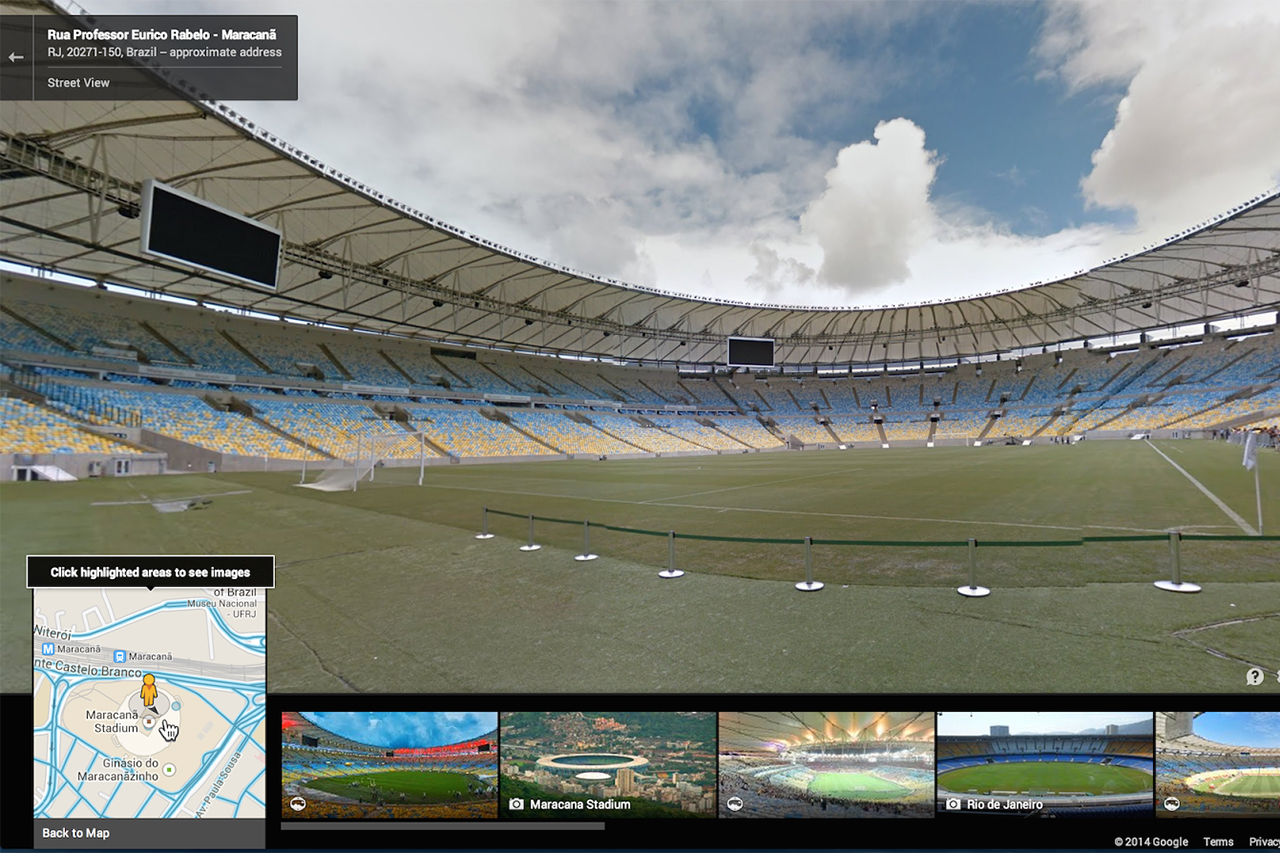 Image of Google Adds More of Brazil, 12 World Cup Stadiums to Street View