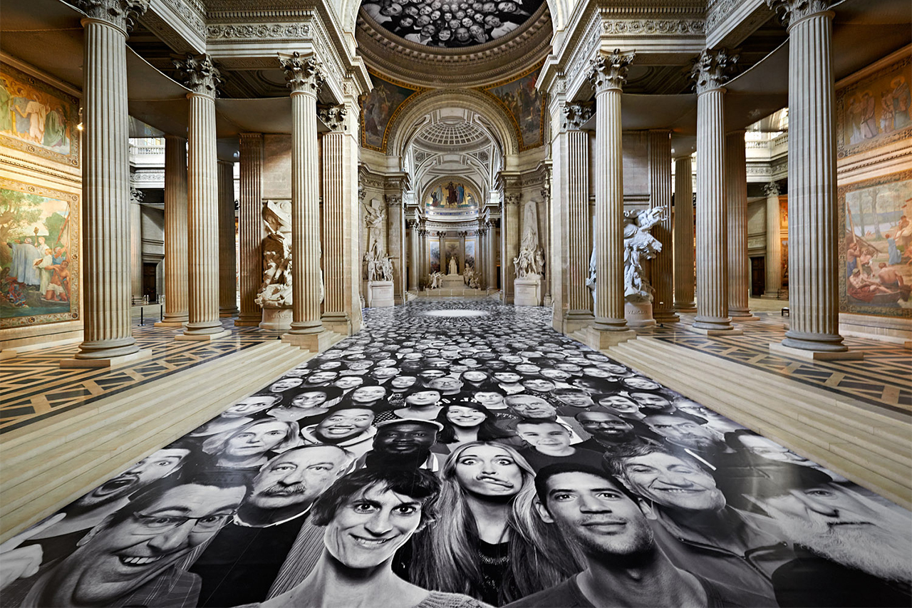 """Image of JR's """"Inside Out"""" Hits the Panthéon in Paris"""