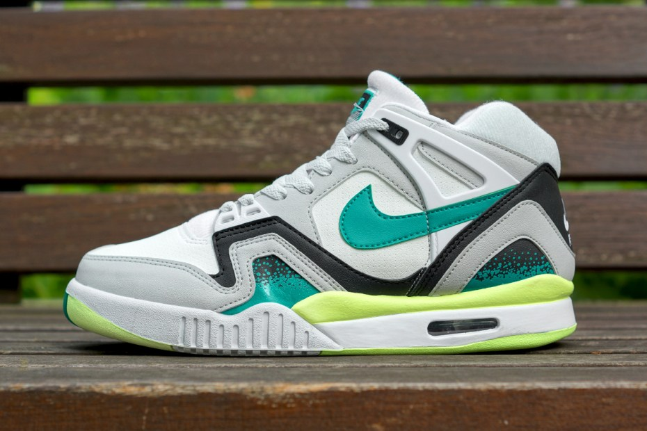 Image of Nike Air Tech Challenge II White/Turbo Green-Neutral Grey