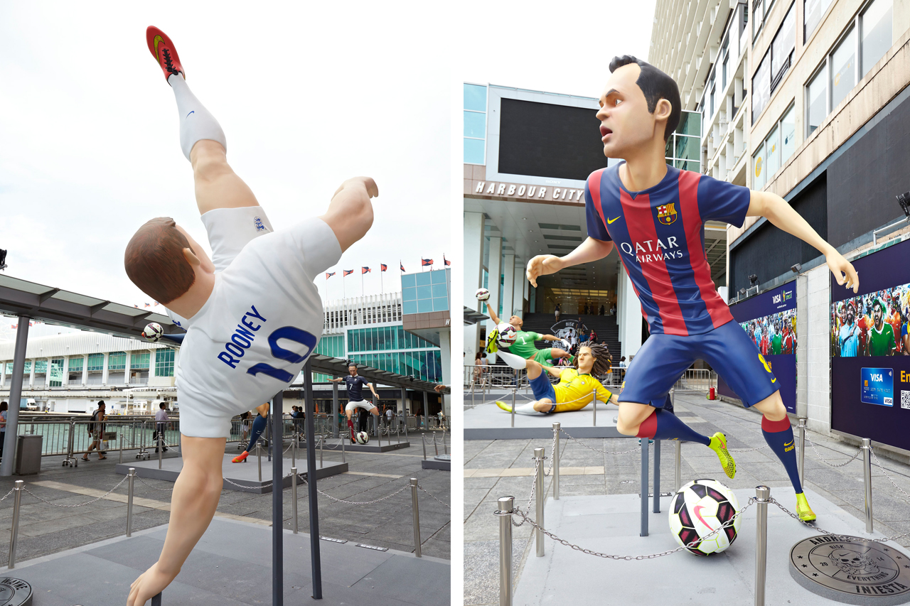 "Image of Nike Football ""The Last Game"" Mega-Sized Footballer Figures"