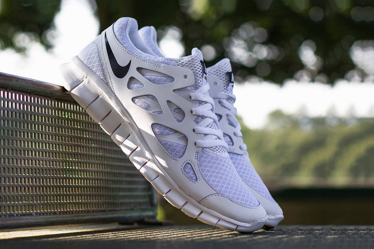 Image of Nike Free Run+ 2 White/Black