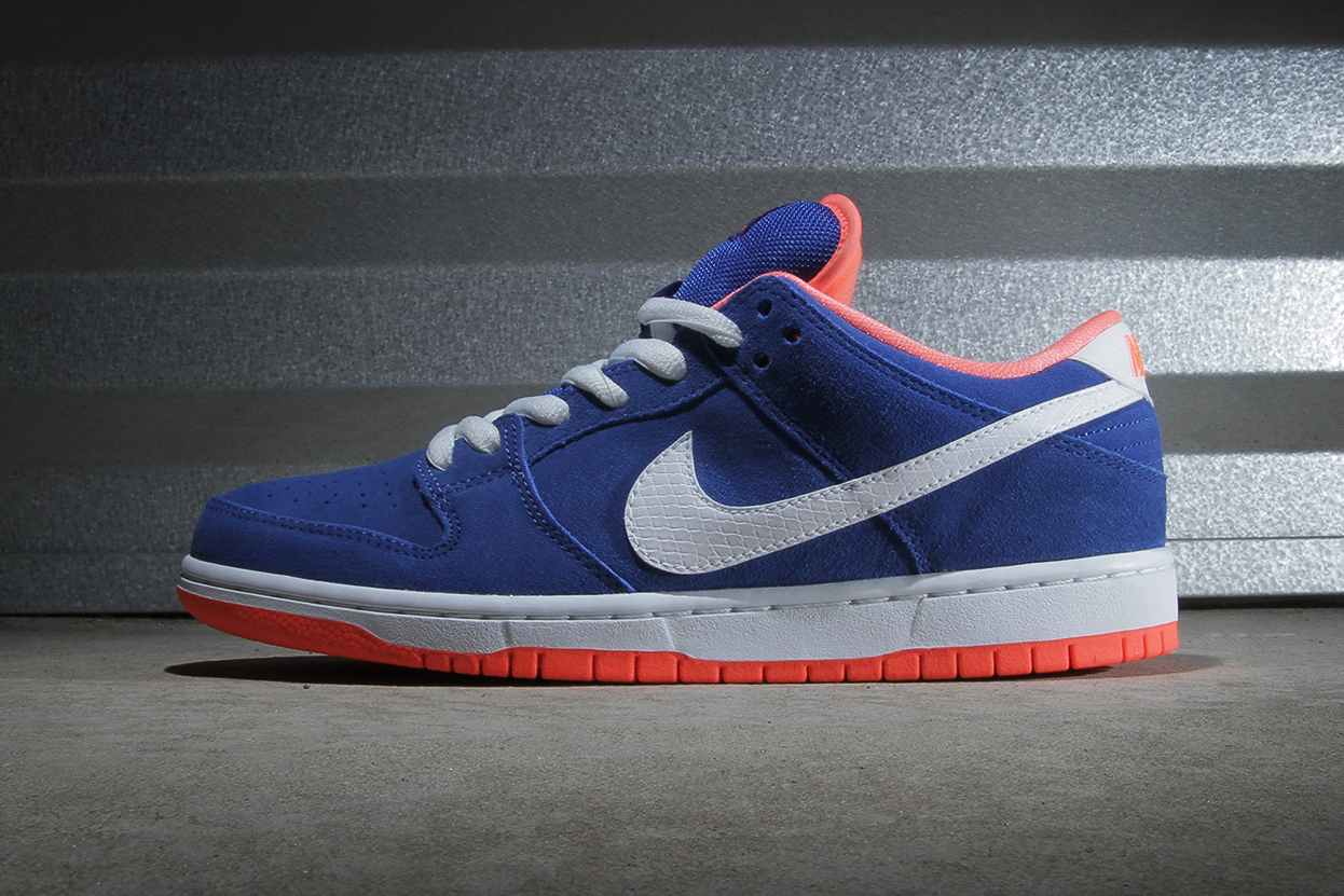 Image of Nike SB Dunk Low Pro Game Royal/White-Bright Mango