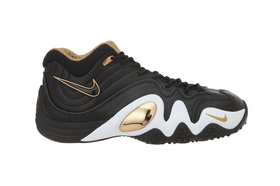 Image of Nike Zoom Uptempo V PRM Black/Metallic Gold-White
