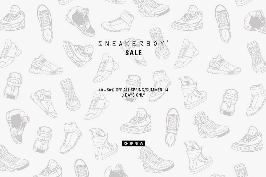 Image of Sneakerboy Offering 40-50% Off All Spring/Summer 2014 Items