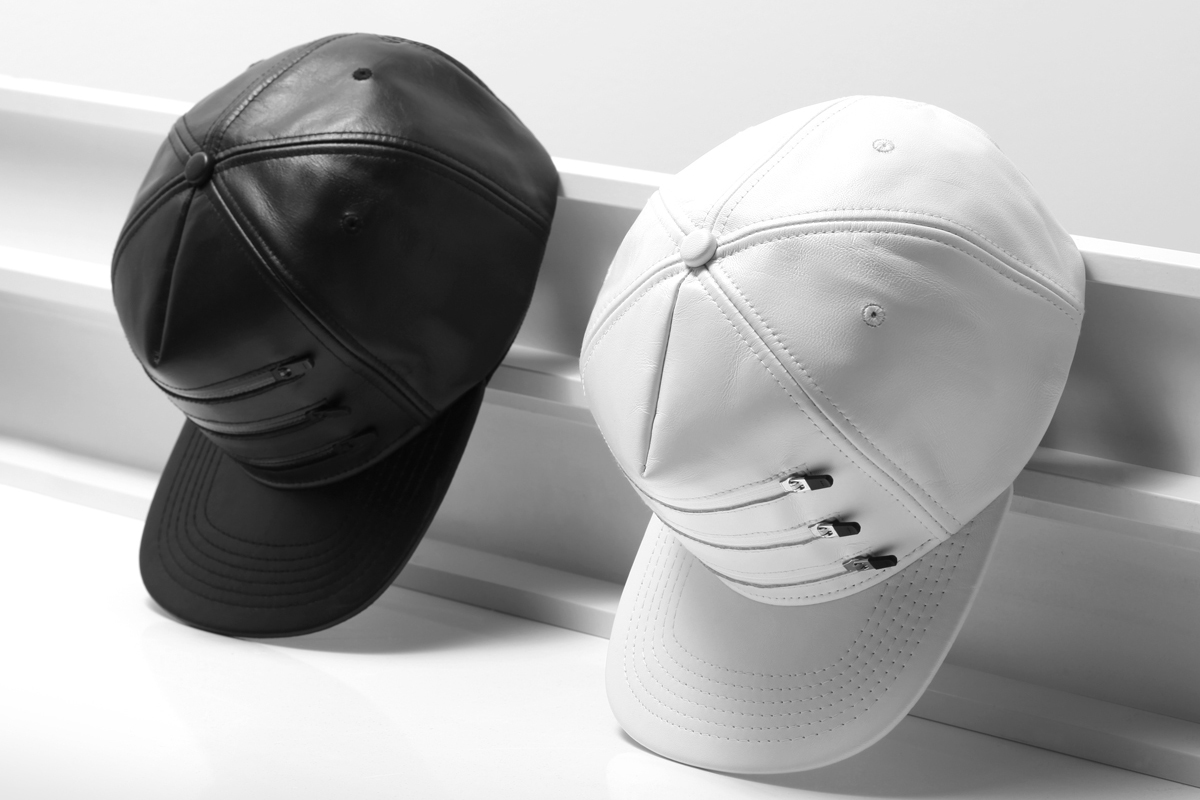Image of Stampd 2014 Spring/Summer Three Zipper Leather Hats