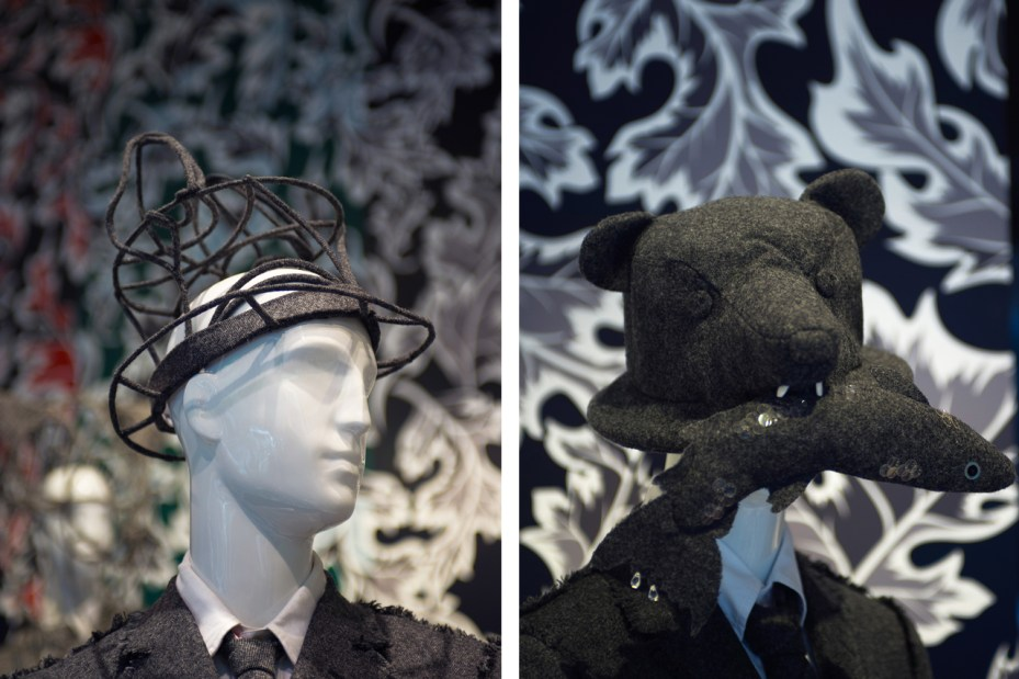 Image of Thom Browne x Stephen Jones Hat Exhibition @ Joyce Recap