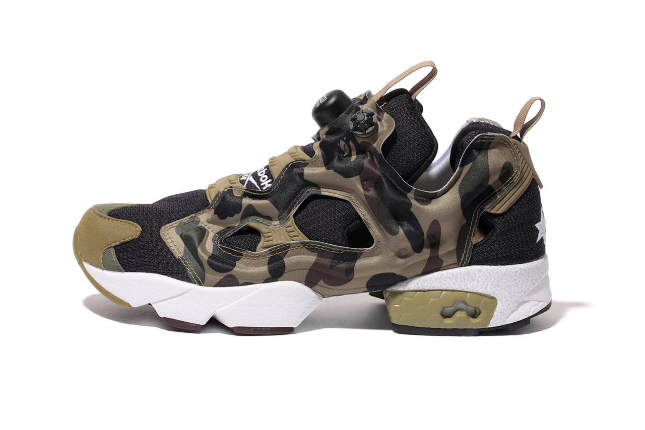 "Image of A First Look at the A Bathing Ape x mita sneakers x Reebok Instapump Fury OG ""Camo"""
