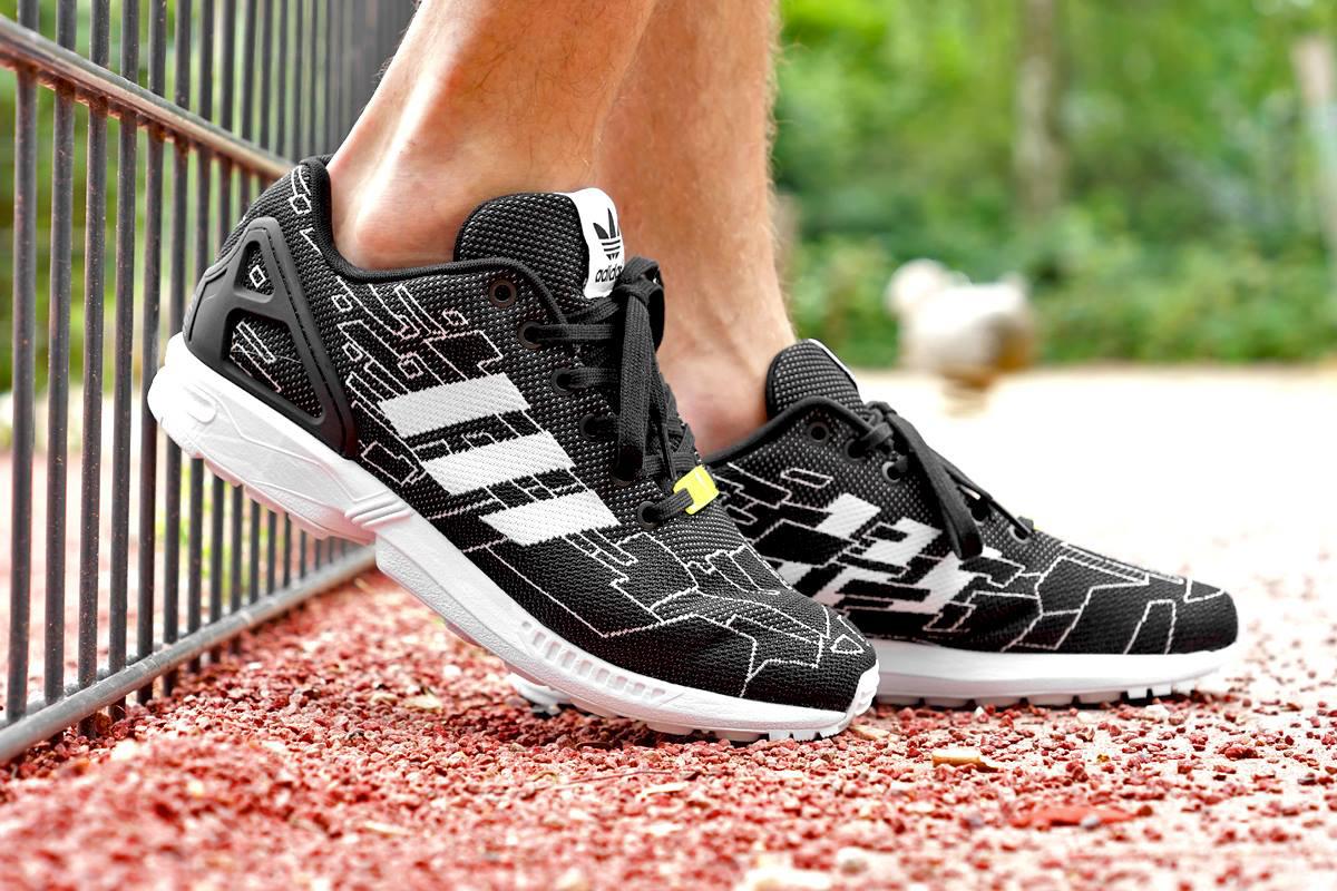 Image of adidas Originals ZX Flux Weave Black/Running White/Onix