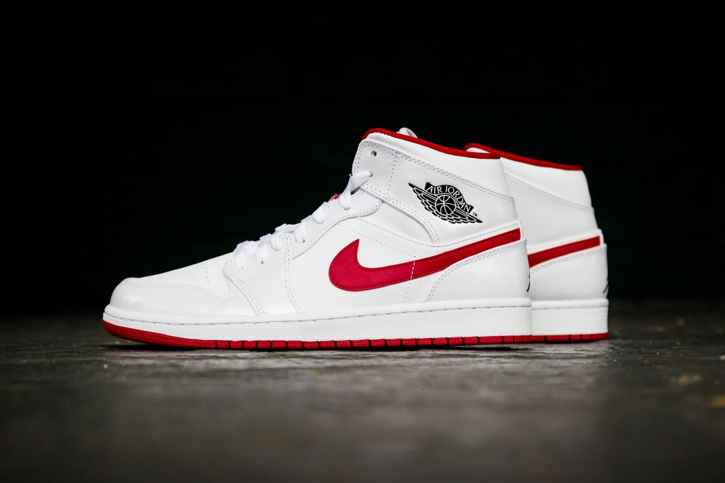 Image of Air Jordan 1 Mid White/Gym Red