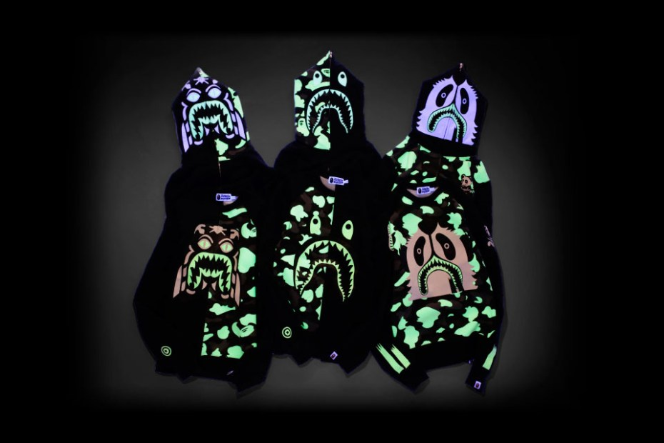 "Image of A Bathing Ape ""Glow in the Dark"" Collection"