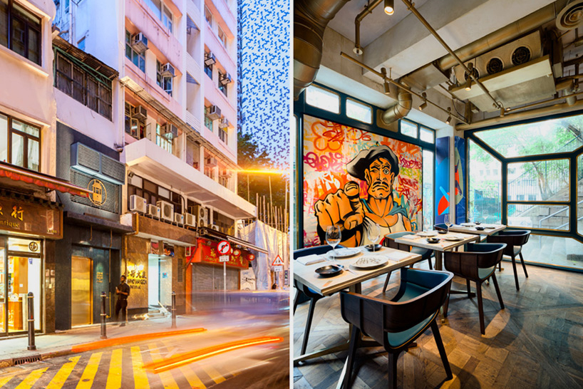 Image of BIBO Restaurant in Hong Kong Features Installations by Street Art Legends