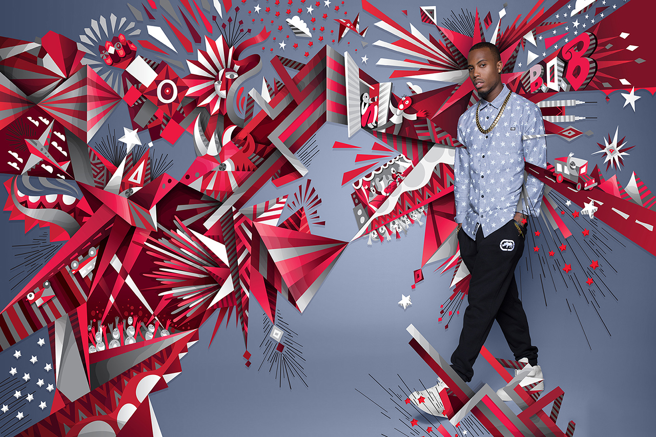 Image of Ecko 2014 Fall/Winter Campaign featuring B.o.B