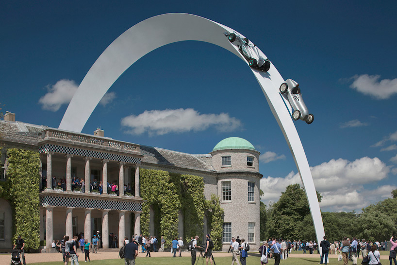 Image of Goodwood Festival of Speed 2014 Mercedes-Benz Sculpture by Gerry Judah
