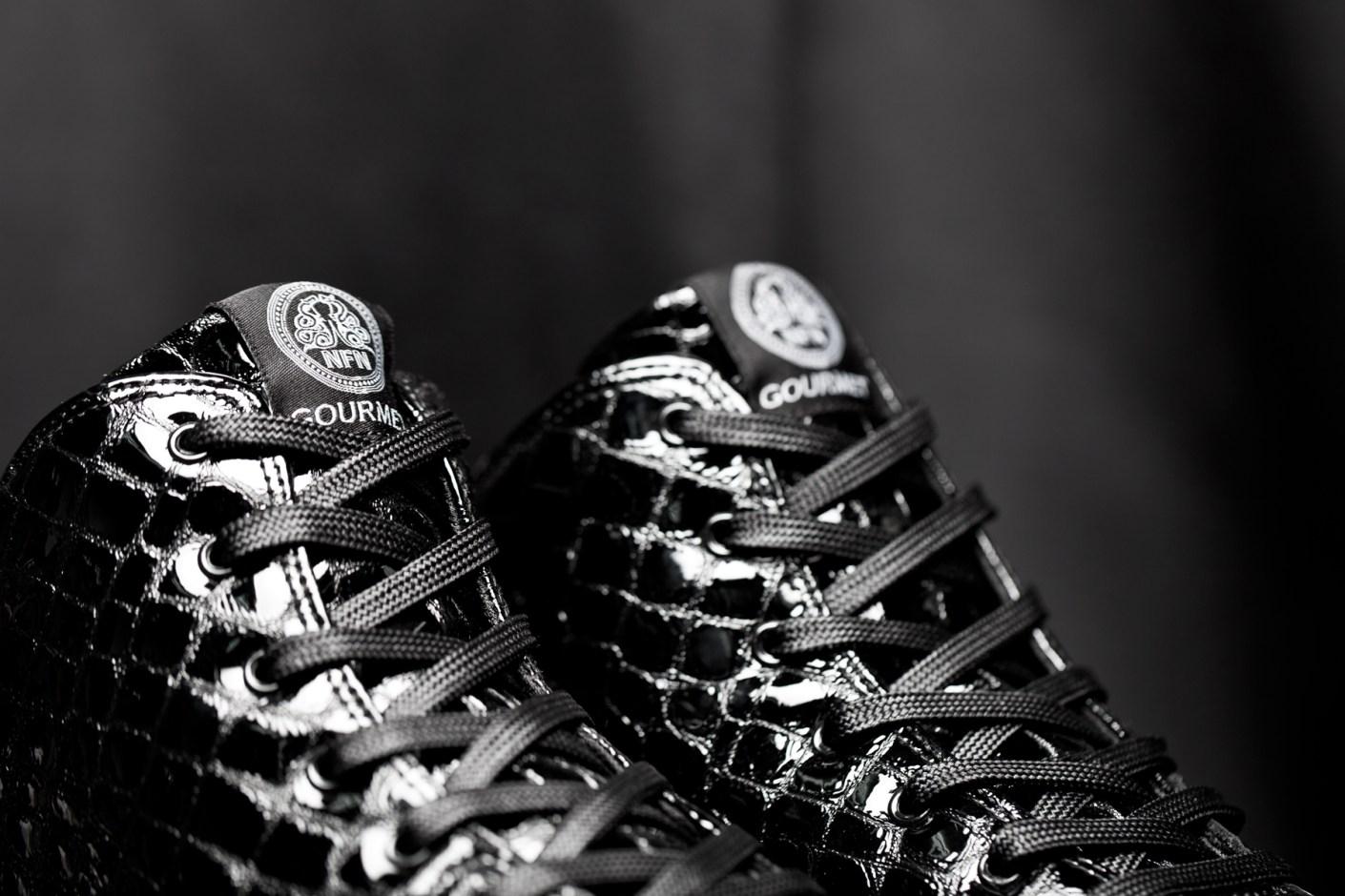 "Image of Gourmet 2014 Fall/Winter ""Black Croc"" Quattro Skate 2 Sneakers"