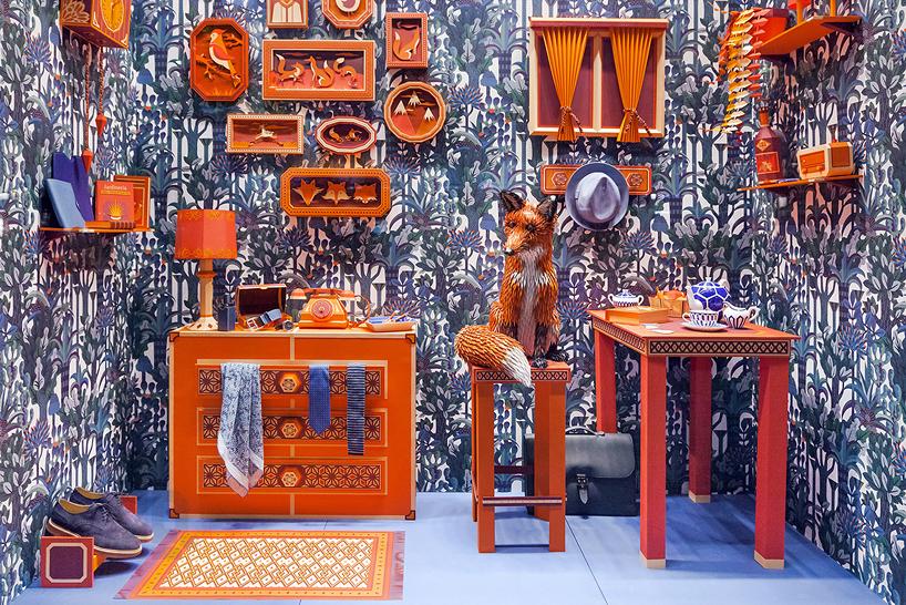 "Image of Hermes ""Fox's Den"" Window Installation by Zim & Zou"