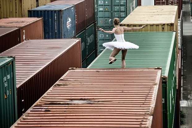 "Image of JR ""Women Are Heroes"" Container Ship"